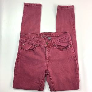 I jeans Buffalo size 8 women's skinny red maroon